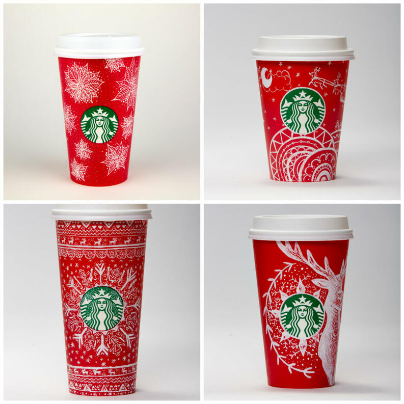 starbucks releases 12 holiday inspired red cups 6