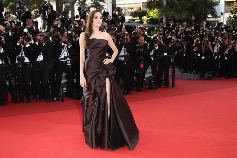 angelina jolie cannes film festival the tree of life premiere 2011