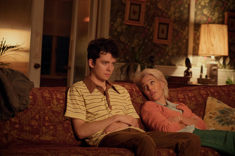 asa butterfield gillian anderson sex education