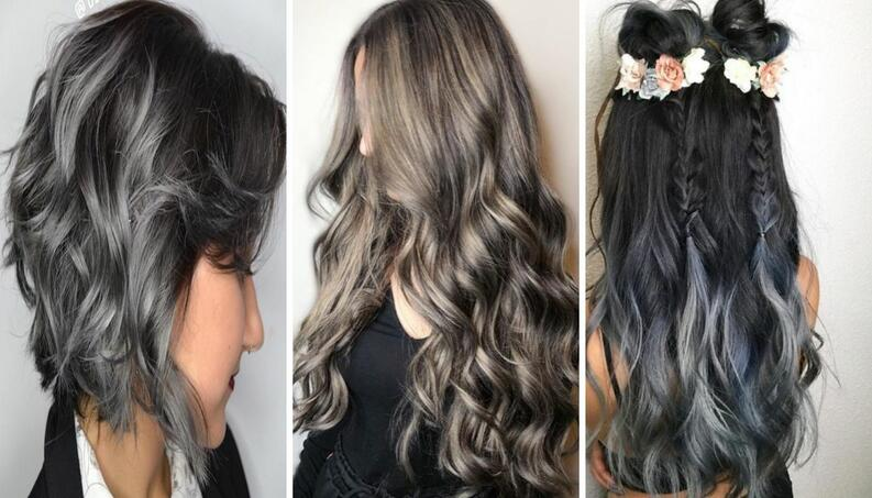 charcoal hair collage instagram  0