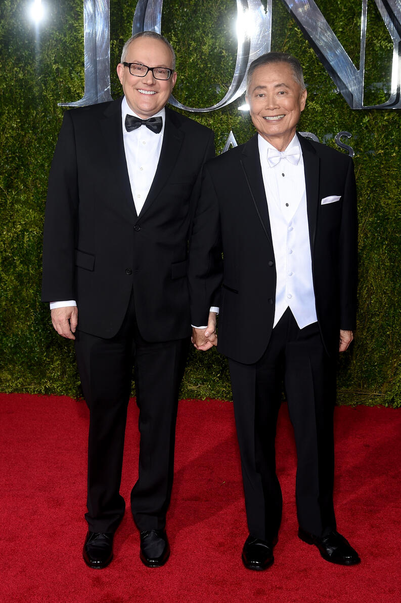 george takei brad altman tony awards 2015