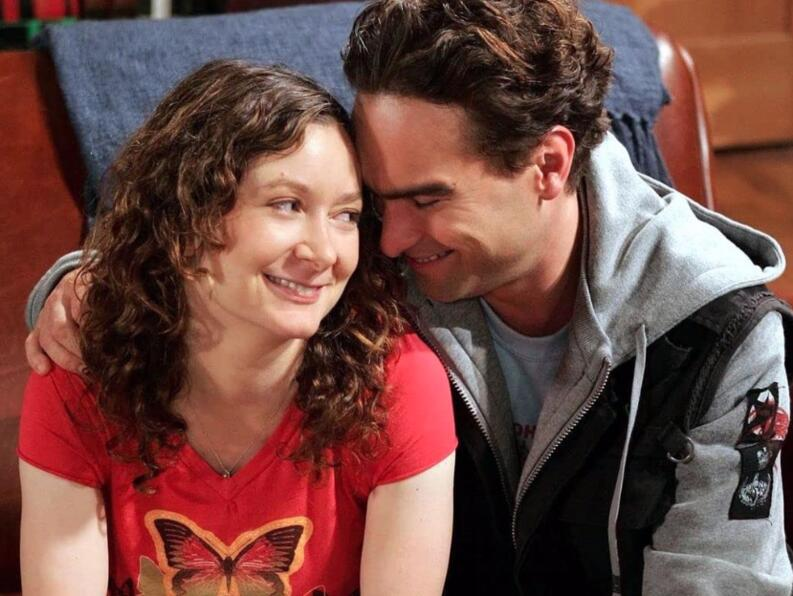 johnny galecki sara gilbert the bag bing theory