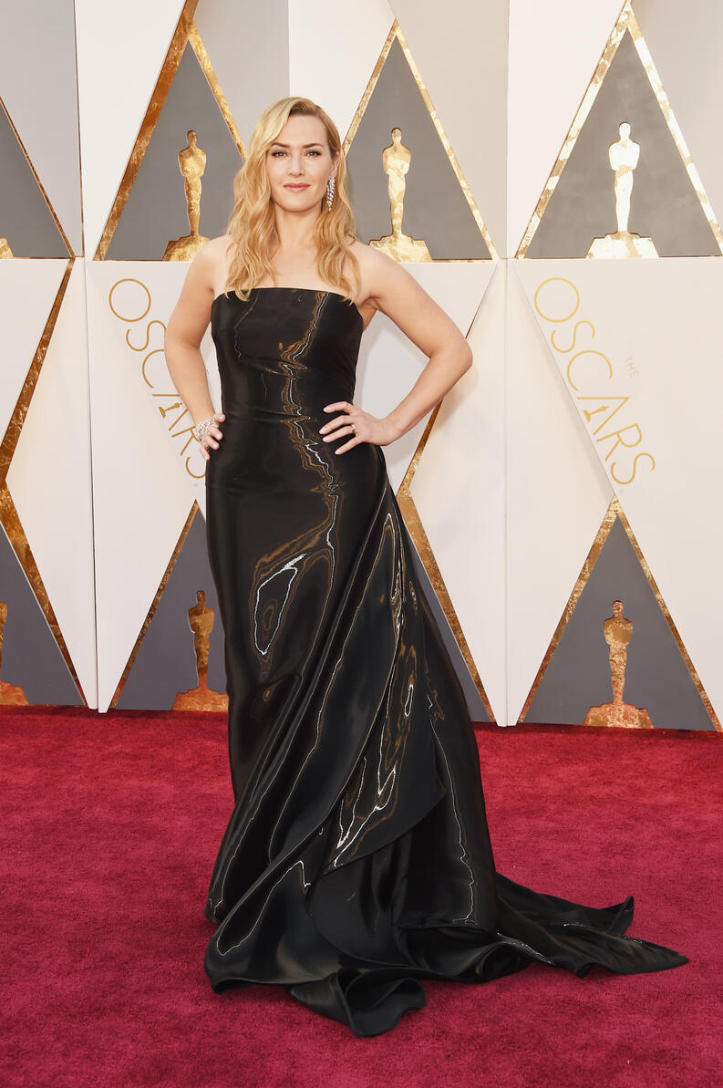 kate winslet red carpet oscar 2016