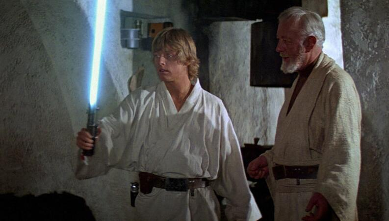 luke skywalker y ben kenobi star wars