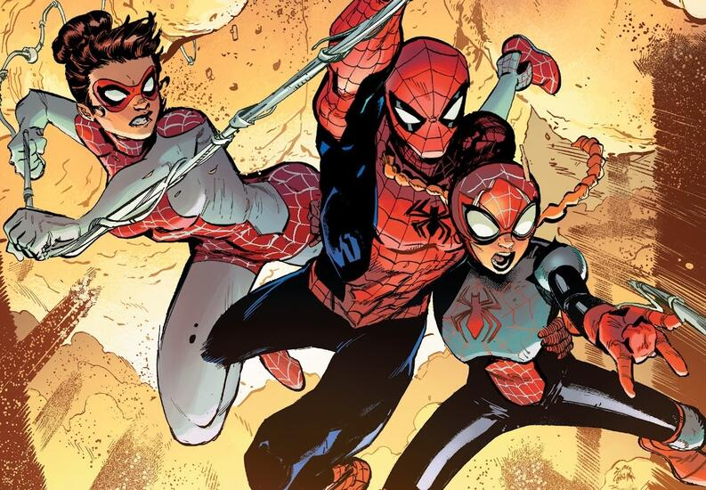 mary jane spiderman y annie may parker marvel comics