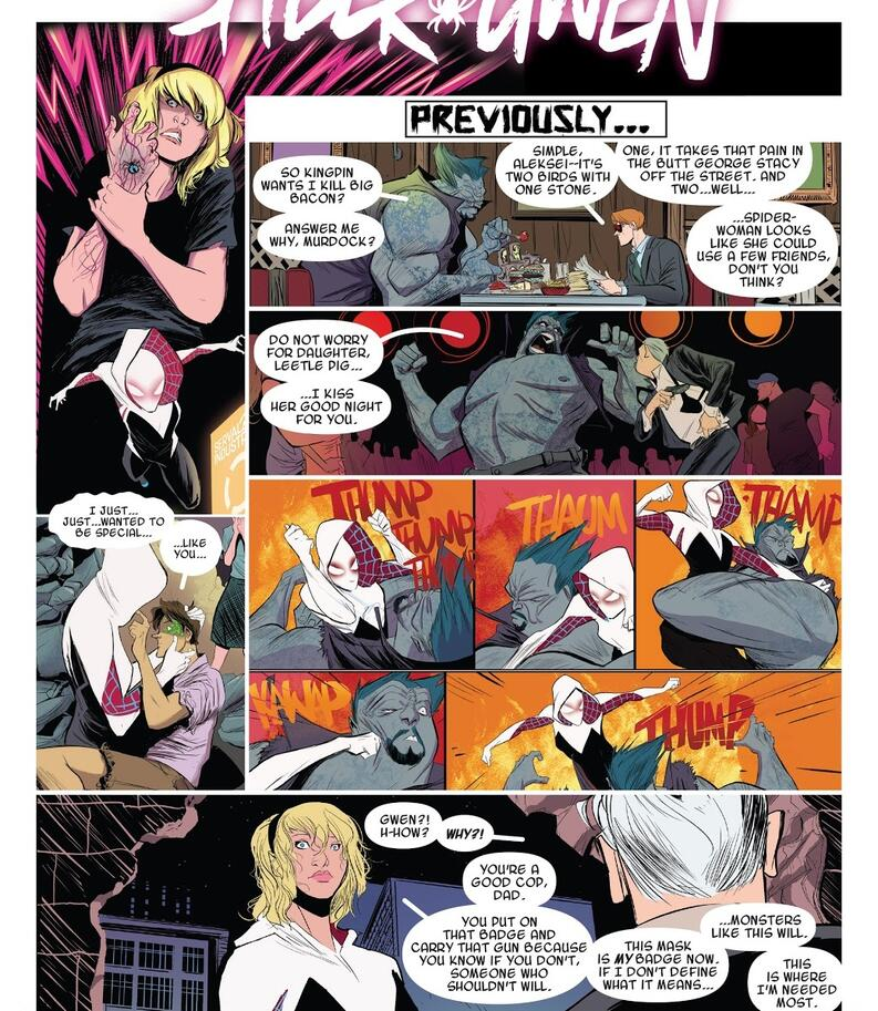 spider gwen peter parker marvel