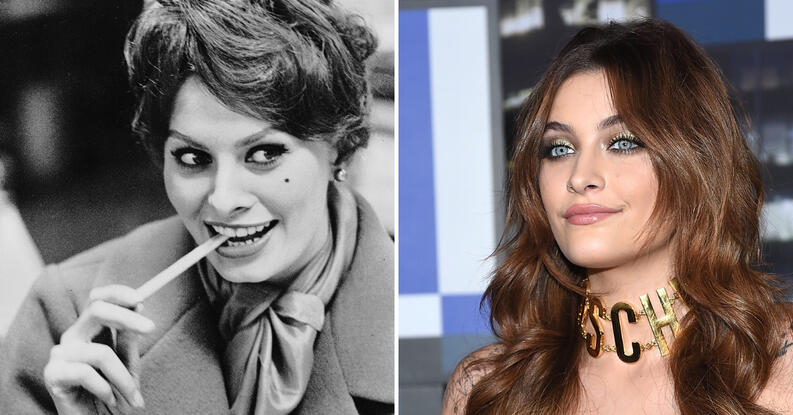 sophia loren paris jackson collage 0