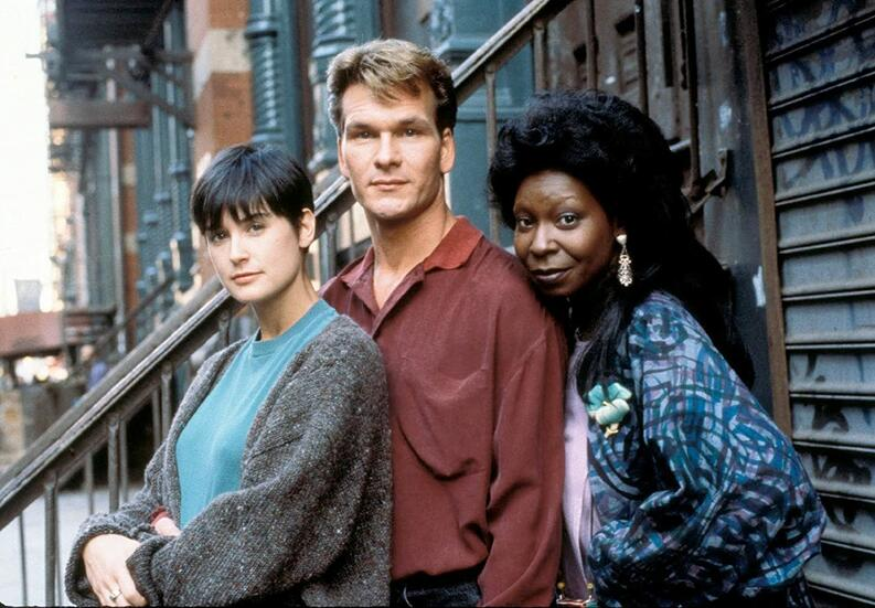 whoopi goldberg demi moore and patrick swayze in ghost 1990