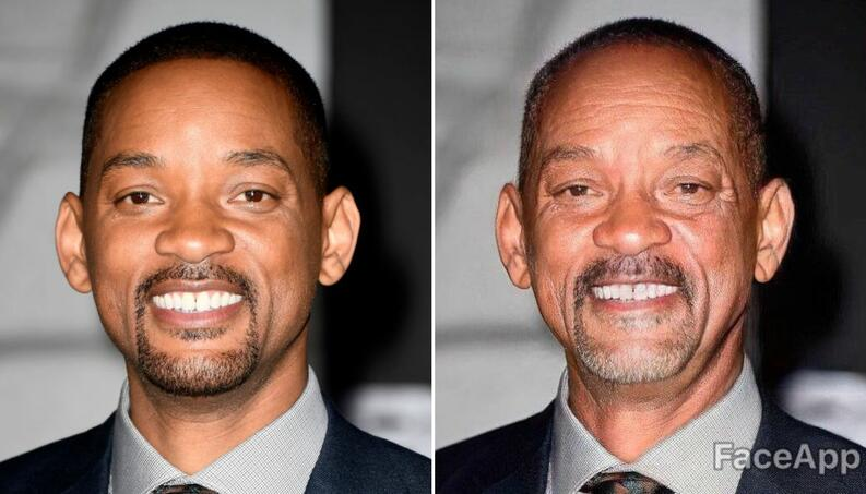 will smith faceapp collage 0