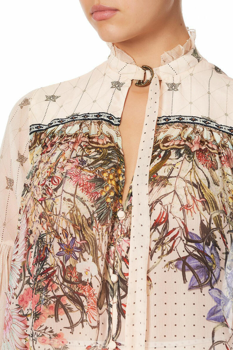 camilla blouse with yoke and neck tie kindred skies 1019 1400x2100